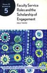 Faculty Service Roles and the Scholarship of Engagement
