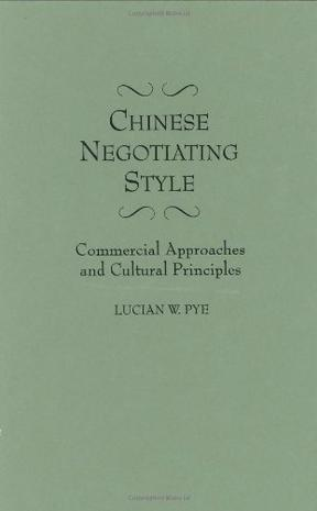 Chinese Negotiating Style