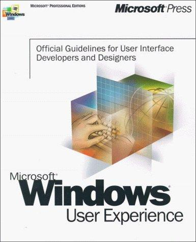 Microsoft Windows User Experience (Microsoft Professional Editions)