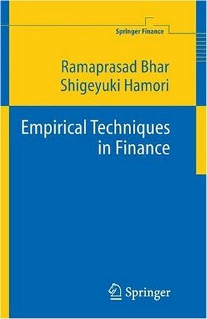 Empirical Techniques in Finance (Springer Finance)