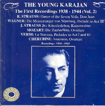 The Young Karajan - The First Recordings 1938 - 1944 (Vol. 2)