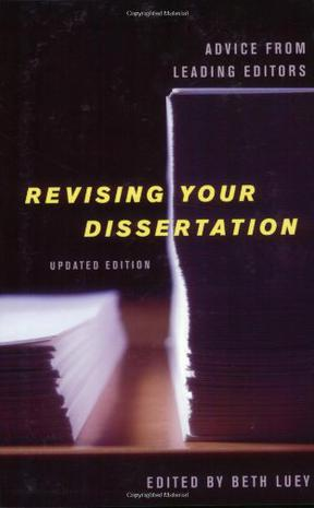 revising your dissertation help and advice as a result of main authors pdf