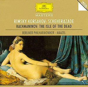 Rimsky-Korsakov: Scheherazade; Rachmaninov: The Isle of the Dead / BPO, Maazel