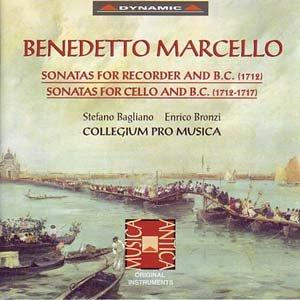 Marcello - Sonatas for Recorder and B.C. (1712), Sonatas for Cello and B.C. (1712-1717) - Collegium Pro Musica
