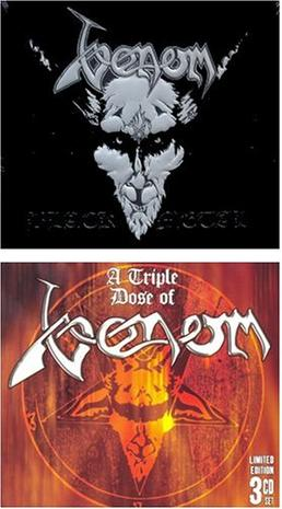 {VENOM 4 CD SUPERPACK} A Triple Dose of Venom [Box set] [Limited Edition] Calm Before The Storm / Live at Hammersmith Odeon 1985 / Live at the Ritz New York 1986 / Black Metal [Original recording remastered] ...(see product description)