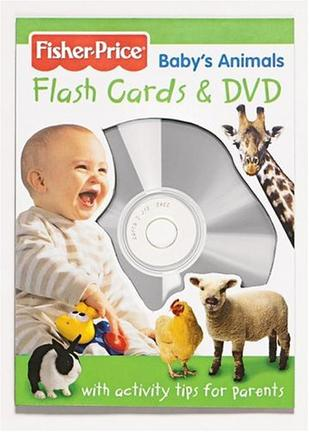 Fisher Price Baby's Animals Flashcards And DVD