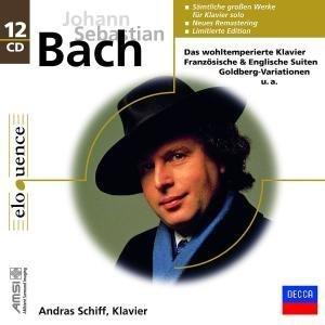 Andras Schiff - Andras Schiff Plays Bach (SOLO WORKS) : Goldberg Variations, The Well-Tempered Clavier, Book 1 & 2, Two part Inventions/Three Part Inventions, English Suites BWV 806-811 , 6 Partitas BWV 825-BWV 830, The Six French Suites - 12CD BOX SET - DECCA