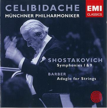 Shostakovich: Symphonies Nos.1 & 9, Barber: Adagio for Strings / Celibidache, MPO