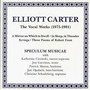 Carter Edtion, Vol. 1: Vocal Works (1975-1981)