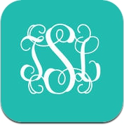 Stencil - Monogram Wallpaper Backgrounds Fashion Skins Themes (iPhone / iPad)
