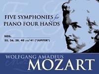 "Five Symphonies for Piano Four Hands: Nos. 35, 36, 38, 40 and 41 (""Jupiter"")"