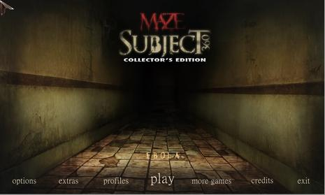 迷宫:全方位逃亡 Maze: Subject 360 Collector's Edition