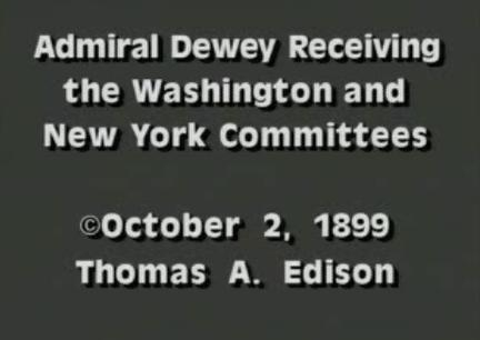 Admiral Dewey Receiving the Washington and New York Committees