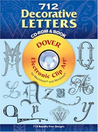712 Decorative Letters CD-ROM and Book
