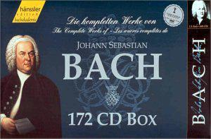 Complete Works of Bach Hanssler Edition Bachakademie 172 CD Box Set