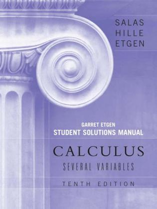 Calculus, Student Solutions Manual