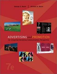 ADVERTISING AND PROMOTION  An Integrated Marketing Communications Perspective Sixth Edition