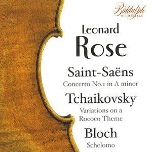 Saint-Saëns: Concerto No. 1 in A minor; Tchaikovsky: Variations on a Rococo Theme; Bloch: Schelomo
