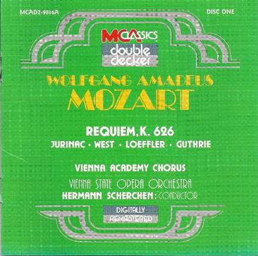Mozart:Requiem/Haydn:7 Last Words