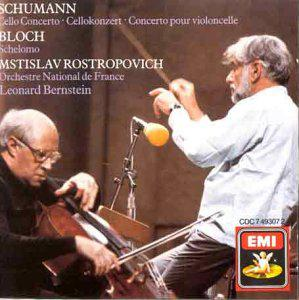 Bloch: Schelomo; Hebrew Rhapsody/Schumann: Cello Concerto