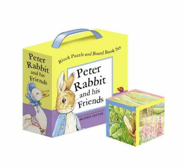 Peter Rabbit Block Puzzle and Board Book Set