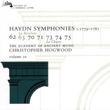 Joseph Haydn: Symphonies, Volume 10 (c. 1779-1781) - The Academy of Ancient Music / Christopher Hogwood