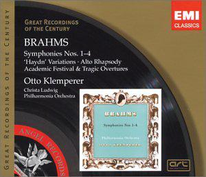 Brahms: Symphonies Nos. 1 - 4 / Haydn Variations / Alto Rhapsody / Academic & Tragic Overtures (Great Recordings of the Century)