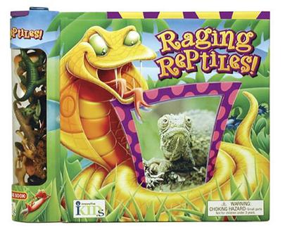 Raging Reptiles FACT BOOK CREATURES GAME BOARD Ages 5-12