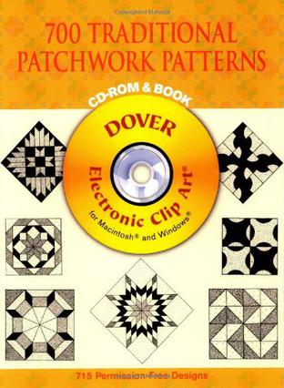 700 Traditional Patchwork Patterns CD-ROM and Book 传统拼布工艺图案(书和光盘)