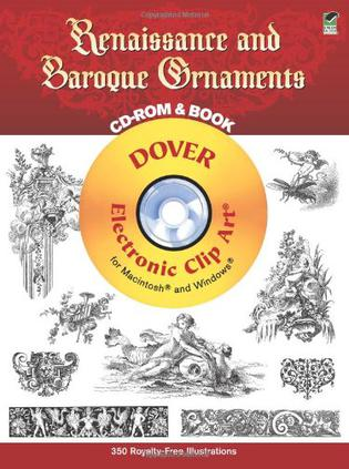 Renaissance and Baroque Ornaments CD-ROM and Book文艺复兴和巴洛克式装饰
