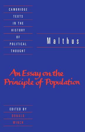 essay on the principle of population (1798)