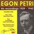 Egon Petri: His Recordings 1929-1942, Vol. 1