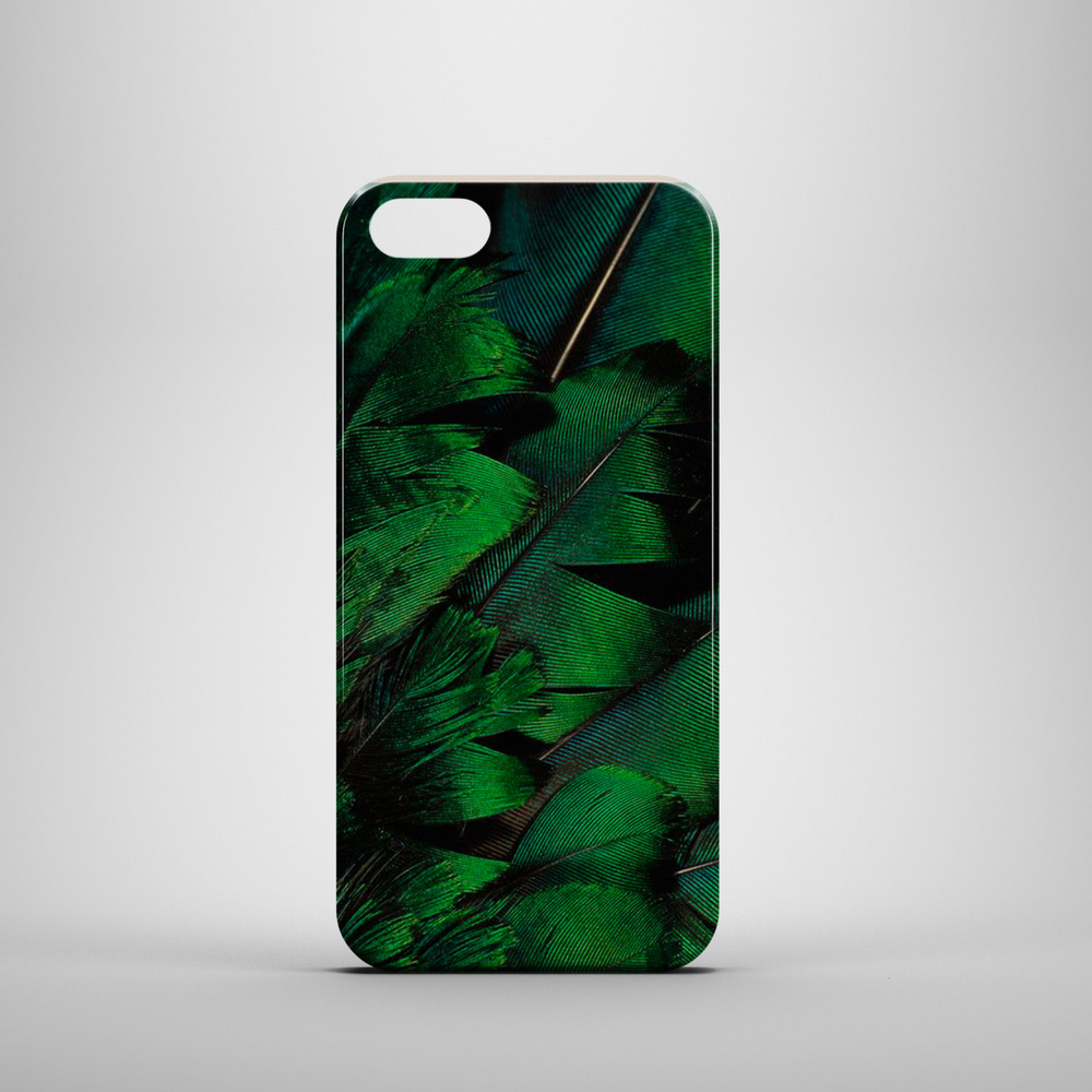iPhone Green feathers case, iPhone 6 case, iPhone 6, case, iPhone 5c case, iPhone 5s case, iPhone 5, iPhone 4s case, iPh的图片