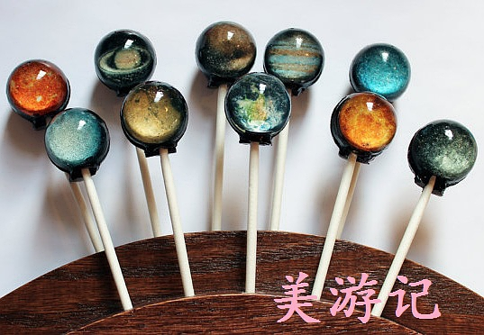美国代购VintageConfections宇宙星球星空棒棒糖10月底前到货的图片