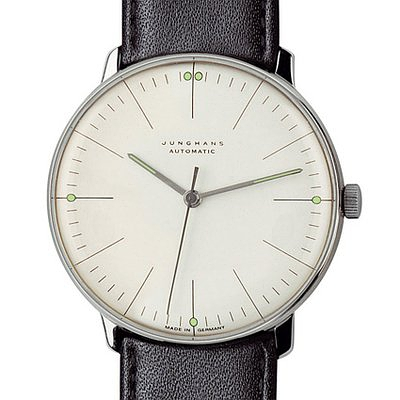 Junghans Watches: Max Bill Automatic Men's Watch with Lines Model 3501的图片