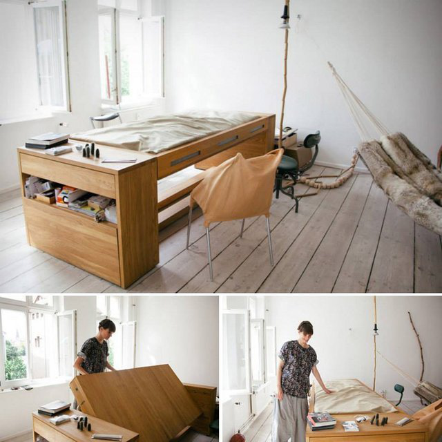 A Desk that transforms into a Bed的图片