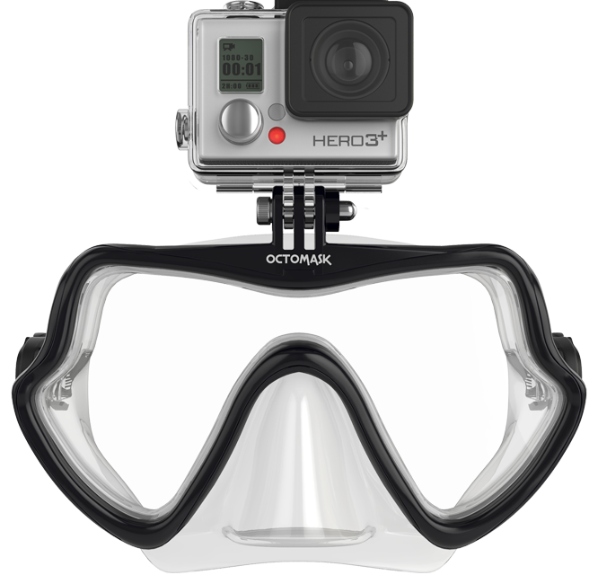 Octomask Frameless GoPro Mount Diving Mask - $80的图片