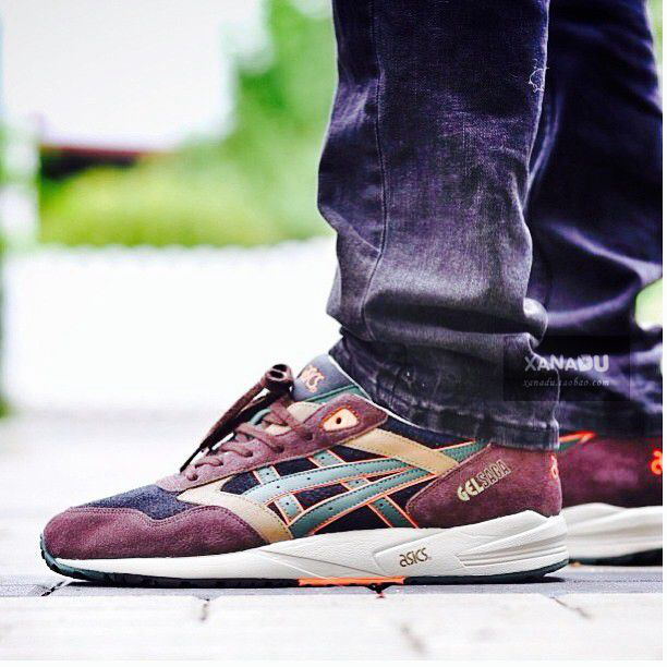 【SoldOut】Asics Gel Saga  Black, Brown & Dark Green的图片