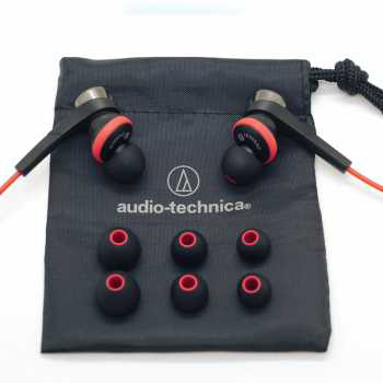 铁三角(Audio-technica) ATH-CKS55XI BRD iPod/iPhone/iPad 专用入耳式耳麦 黑红混色