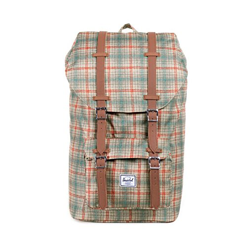 Herschel Supply Co. Little America, Grey Plaid, One Size
