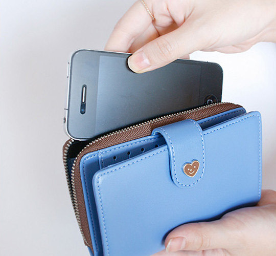 5 colors, leather wallet的图片