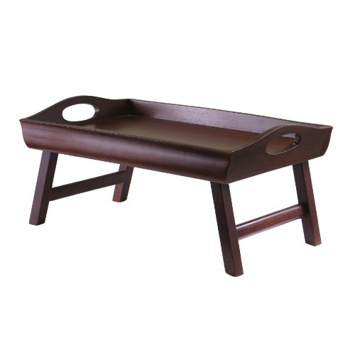 Winsome Wood Sedona Bed Tray Curved Side, Foldable Legs, Large Handle的图片