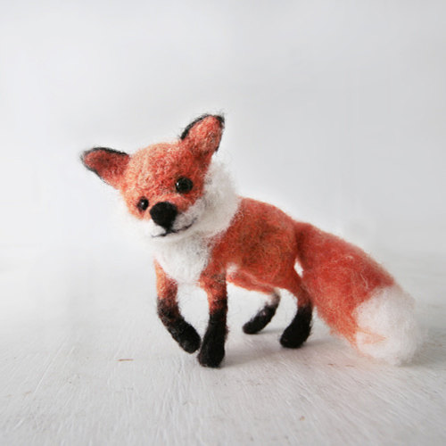 WILLY - red fox, handmade animal doll, eco friendly little friend, this proud forest animal ships FREE with another item