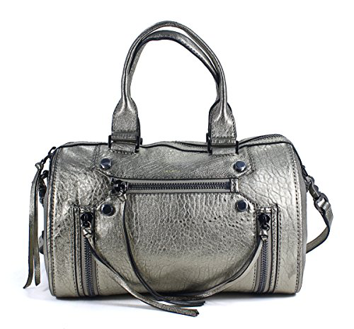 Botkier Logan Satchel Metallic Gold Leather Handbag Purse的图片