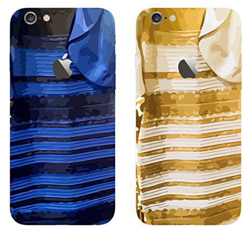 "iPhone 6 Case, Bastex Heavy Duty Snap On Cases - Blue and Black Dress Design + Gold and White Design [From the Viral Internet Debate!] Case for iPhone 6, 4.7"" - #TheDress的图片"