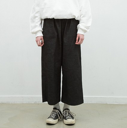 [ROCKER CHEN]Denim Wide Pants (2color)(大腿裤)的图片