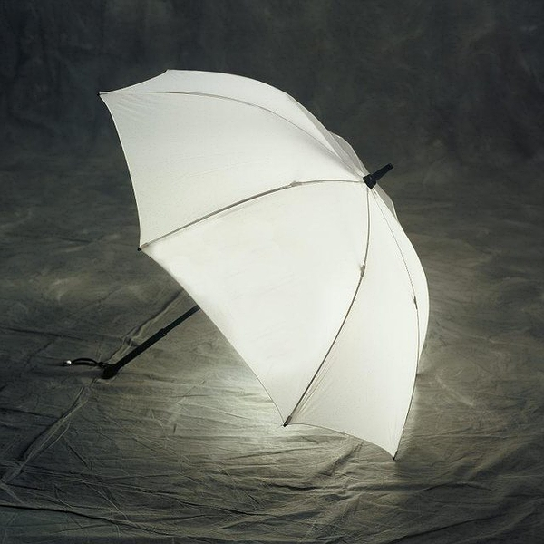 Illuminated Umbrella by Bright Night