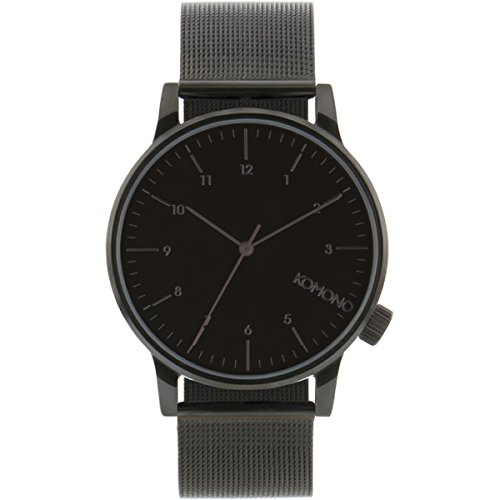 KOMONO Unisex KOM-W2352 Winston Royale Series Analog Display Japanese Quartz Black Watch