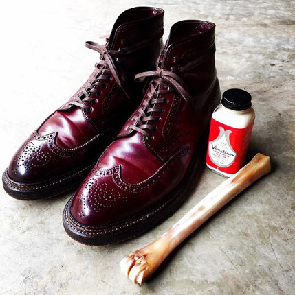 Alden Wing tip Boot 8号色/黑色 马臀皮 狼牙底/皮底