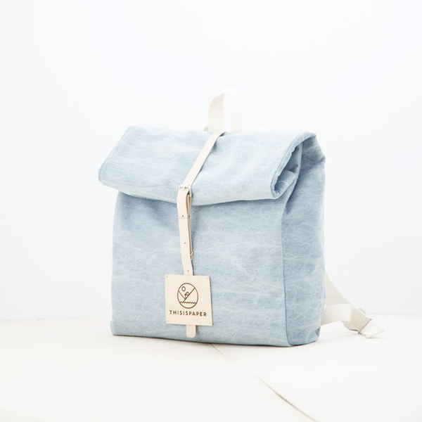 Top Roll Denim Rucksack by Thisispaper